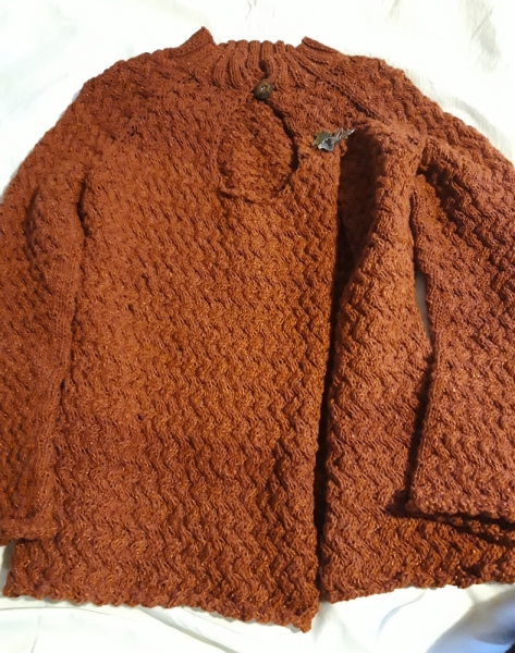 Strickjacke braun
